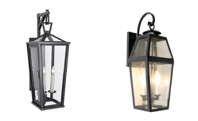 Outdoor wall lanterns and sconces