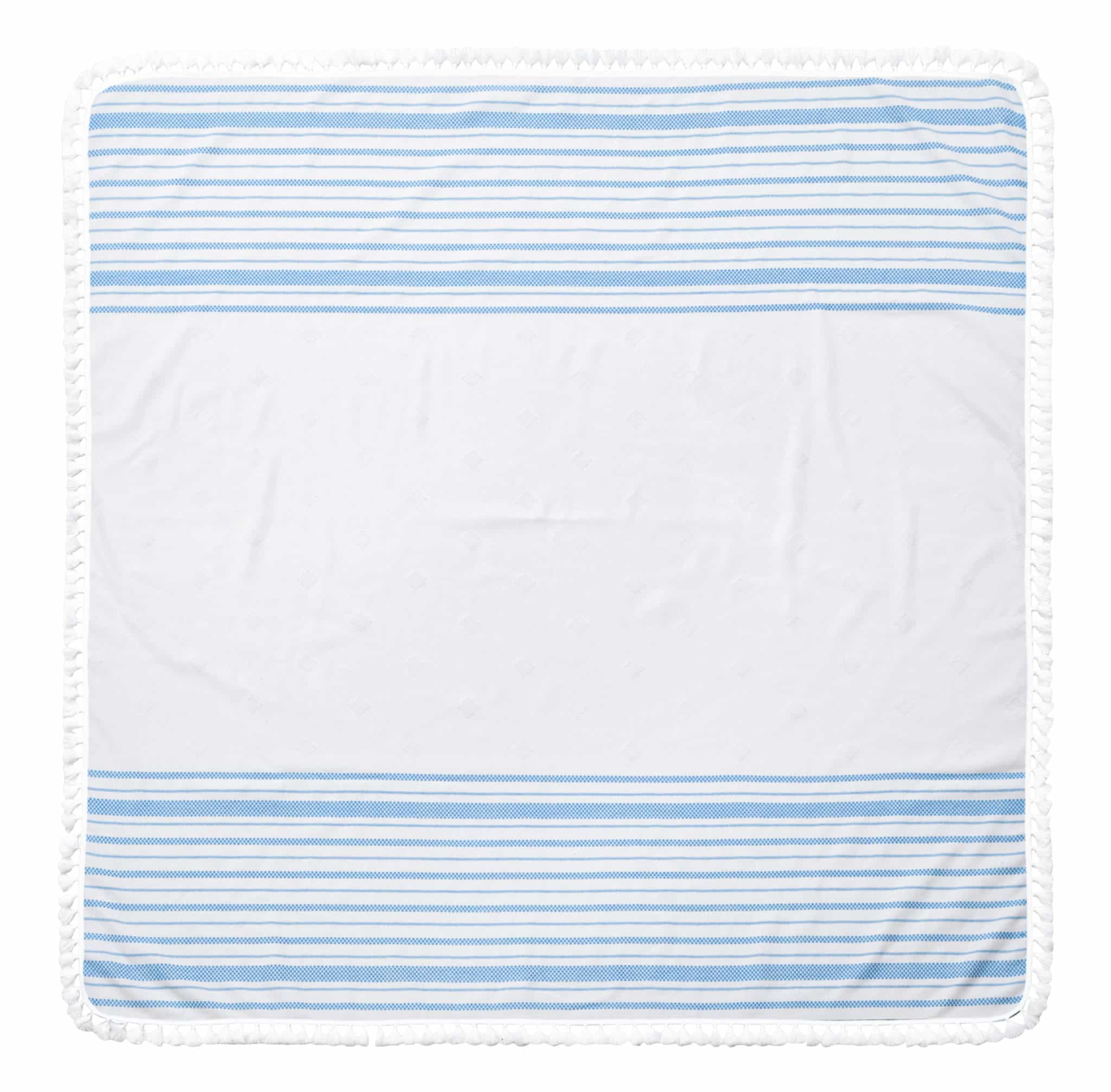 Blue Striped Beach Towel