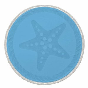 Round Starfish Beach Towel
